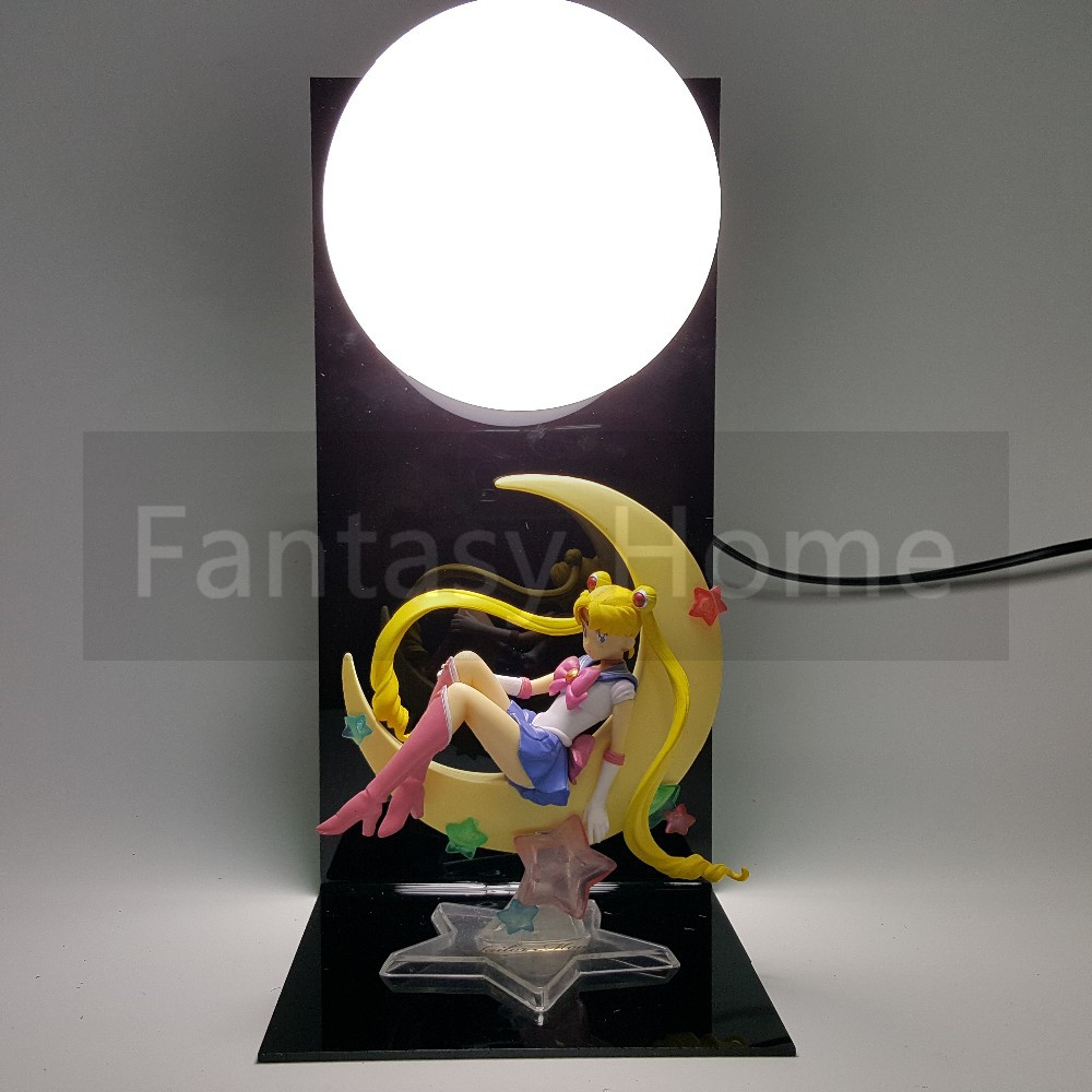 Sailor moon aksiyon figürü sailor moon tsukino usagi diy ekran oyuncak anime sailor moon tsukino usagi + taban + ampul diy36