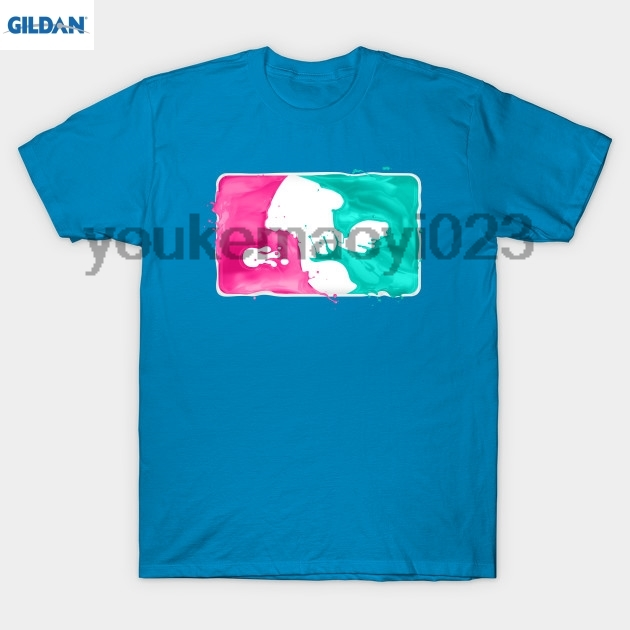 GILDAN Major League Splatoon (pembe & amp teal varyant) T-Shirt