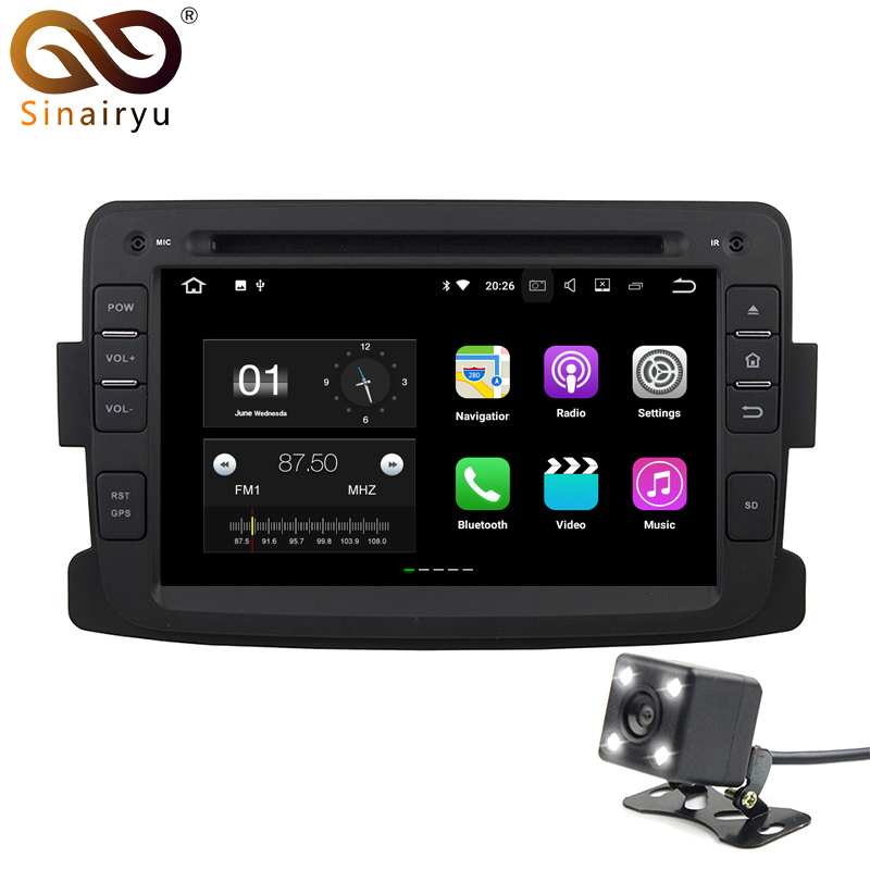 HD 7 IPS Ekran 2 GB RAM Android 7.1.1 Araba DVD GPS Multimedya Renault Dacia Duster için Lada Captur Stereo Radyo TV 4G WiFi