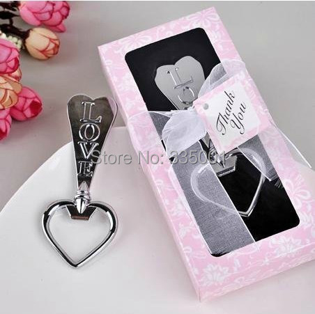 Free Shipping Love Heart-shaped bottle opener wedding gift and giveaway 100 pieces/lot