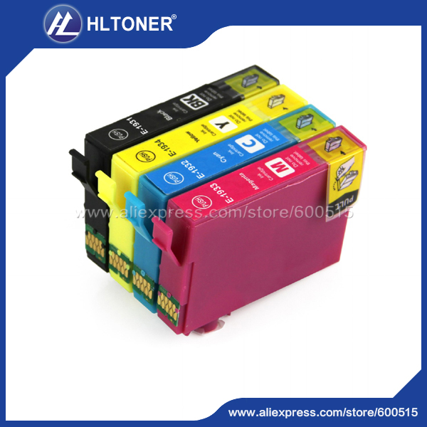 4pcs Compatible ink cartridge T1981 T1932 T1933 T1934 for Workforce WF-2521 2521WF 2531 2531NF 2541 2541WF 2631