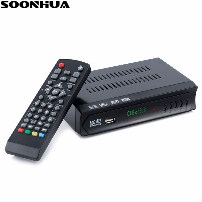 SOONHUA DVB-S2-M5 HD TV BOX Dijital Set Top Box TV ve radyo programları Ile LNB IN USB Portu HDMI Çıkışı AB Tak